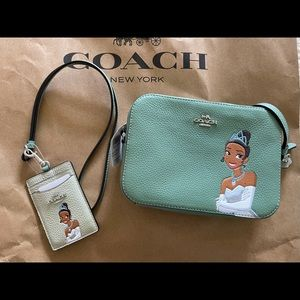 Coach Disney tiana mini camera bag ID lanyard set
